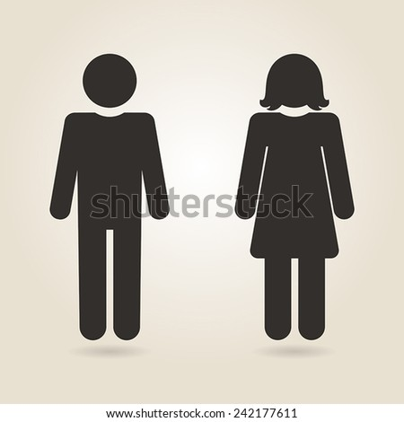 icon gender differences on a light background - stock vector