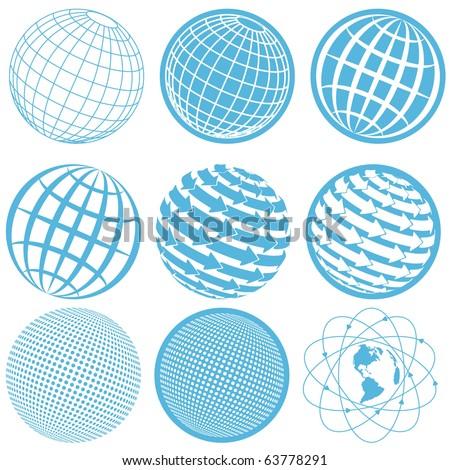 icon globe - stock vector