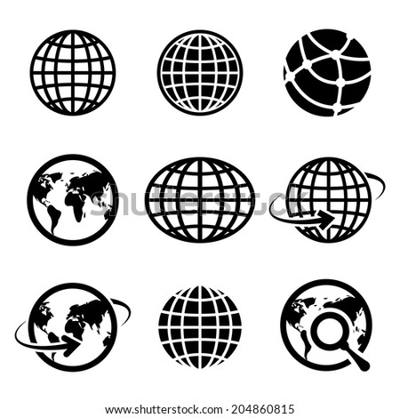 icon globes. vector. eps10