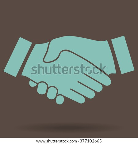 icon handshake. background for business and finance