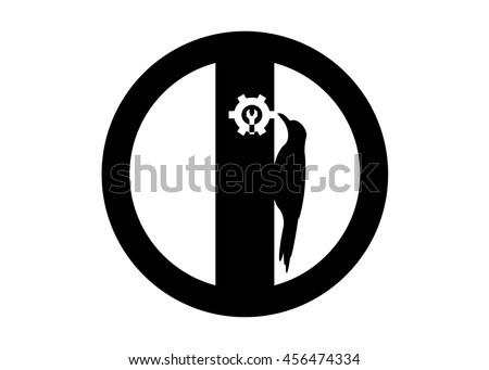 Icon Help Black Circle Bird On Stockvector 456474334 Shutterstock