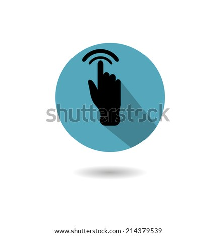 Icon into a flat style of the hand and forefinger touch - stock vector