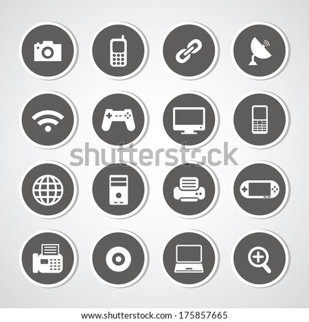 Icon IT set for use  - stock vector