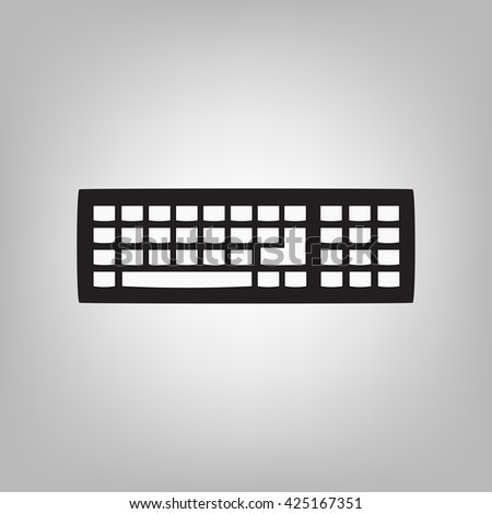 Keyboard Icon Stock Vector 432206398 - Shutterstock