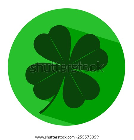 icon leaf clover - stock vector