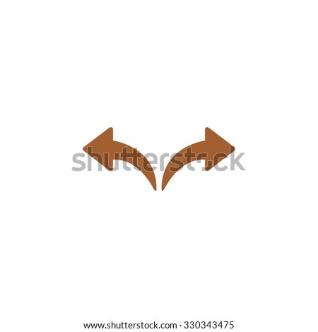 Icon left and right arrows. Forward and backward. - stock vector