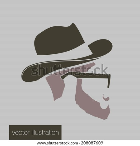 Icon man in a headdress - stock vector