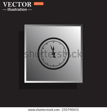 icon mechanical clock. Vector illustration, EPS 10