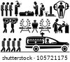 ICON MEN FUNERAL - stock photo