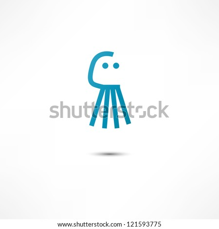 Icon Octopus - stock vector