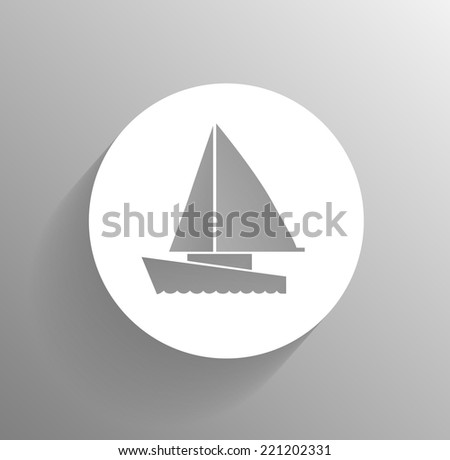 icon of a boat - stock vector