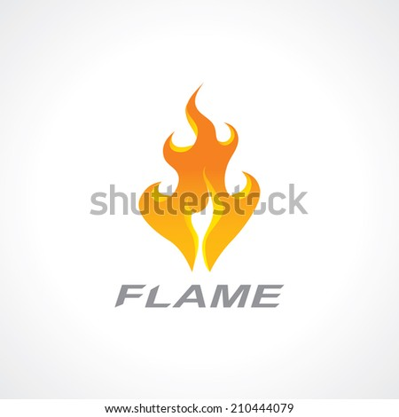 icon of a flaming fire. vector eps10 - stock vector