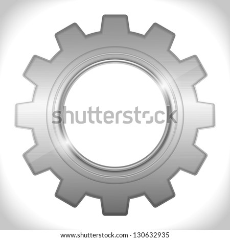 Icon of a gear, vector eps10 illustration - stock vector