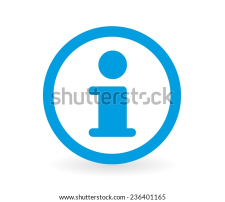 Icon of a information sign in blue and white - Abstract vector image easy to change color. - stock vector