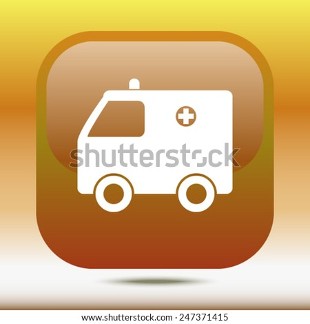 icon of ambulance  - stock vector