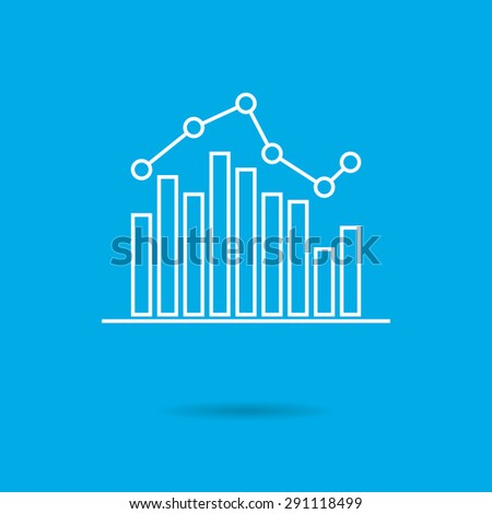 Icon of bar chart with line graph