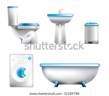 Icon of bathroom equipment - stock vector