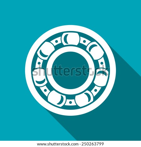 icon of bearing - stock vector