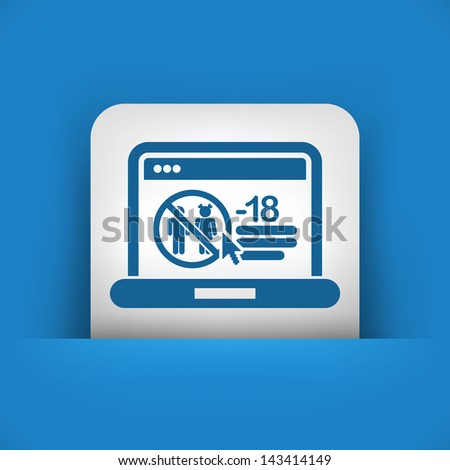 Icon of booking airplane ticket on web agency - stock vector