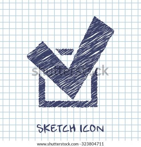 icon of check - stock vector