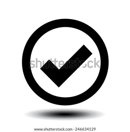 icon of check box  - stock vector