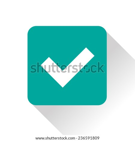 icon of check mark - stock vector