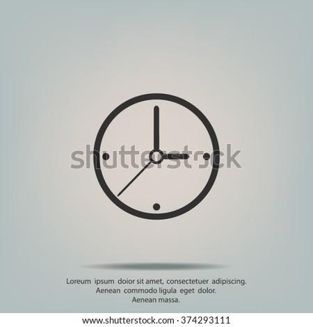 Icon of clock - stock vector
