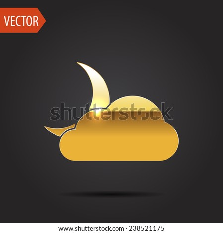 icon of cloudy night