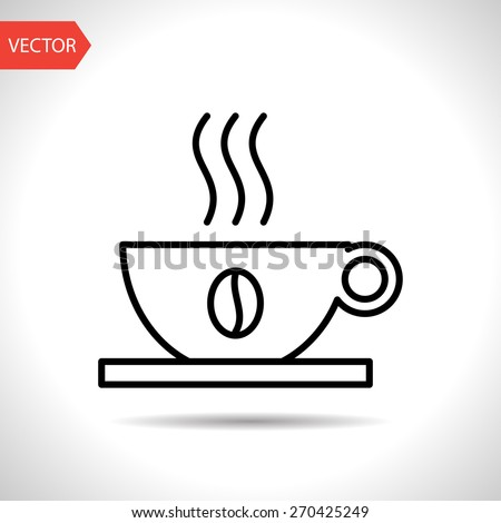 icon of coffee cup - stock vector