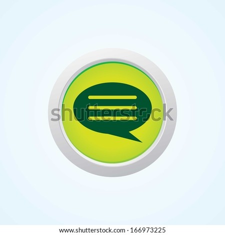 Icon of Comments on Button. Eps-10 - stock vector
