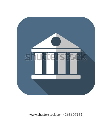 icon of court building - stock vector