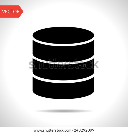 icon of database - stock vector