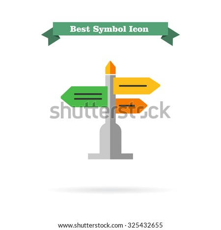 Icon of direction sign - stock vector