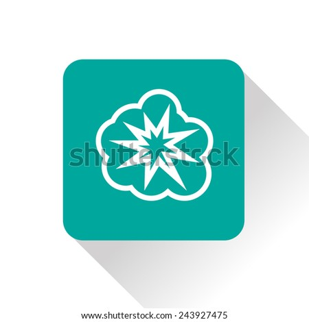 icon of explosion - stock vector