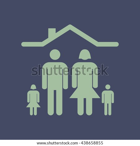 Icon of Family. Eps-10. - stock vector