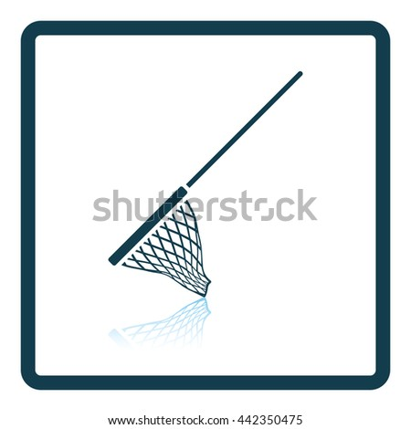 Icon of Fishing net . Shadow reflection design. Vector illustration. - stock vector