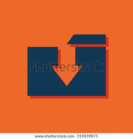 icon of folder - stock vector