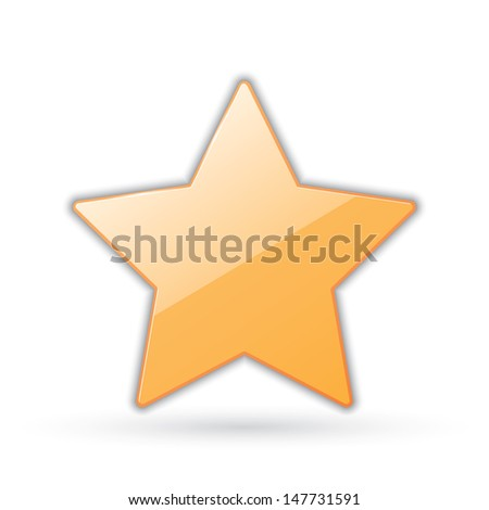 icon of golden star. vector eps10 - stock vector