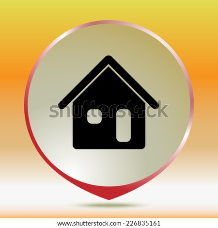 icon of home - stock vector