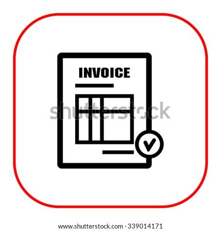 Icon of invoice document - stock vector