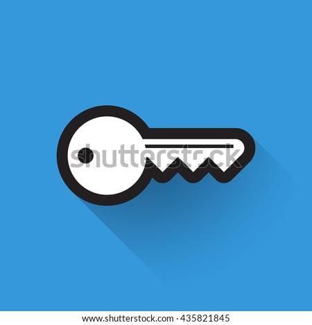 Icon of key. Symbol key. Flat design element. Logo of key, illustration. - stock vector - stock vector