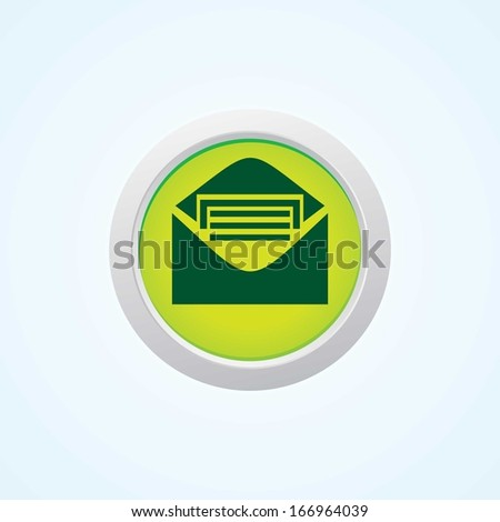 Icon of Message on Button. Eps-10. - stock vector
