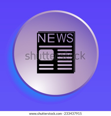 icon of news - stock vector