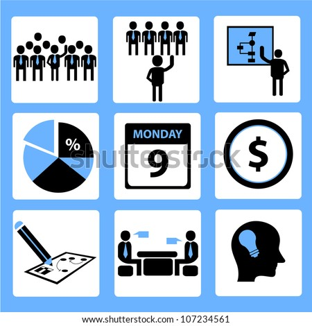 Icon Organization Human Resource Management Stock Photo Photo