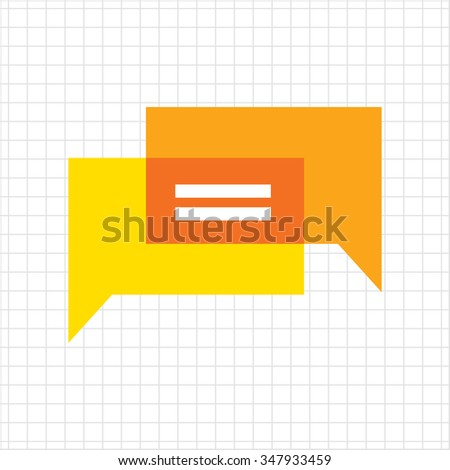 Icon of overlapping speech bubbles with dots - stock vector
