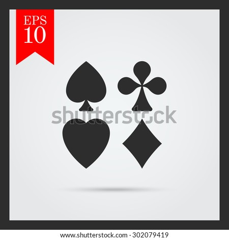 Icon of playing card suits - stock vector