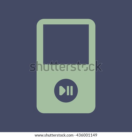 Icon of Portable Media Player. Eps-10. - stock vector