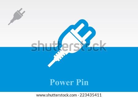 icon of power pin. Eps-10. - stock vector