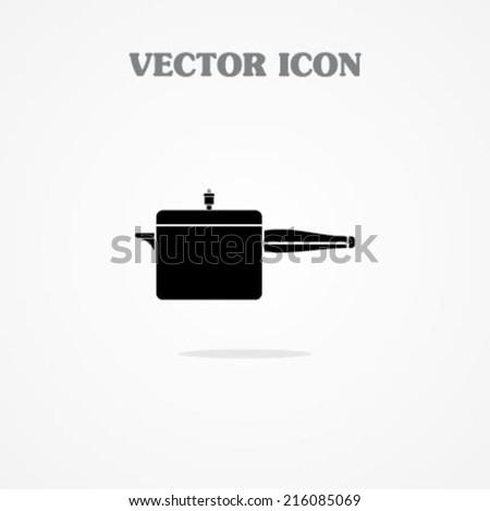 Icon of Pressure Cooker - stock vector