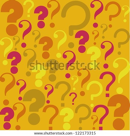 Icon of question, pattern of question mark silhouette,  vector illustration - stock vector